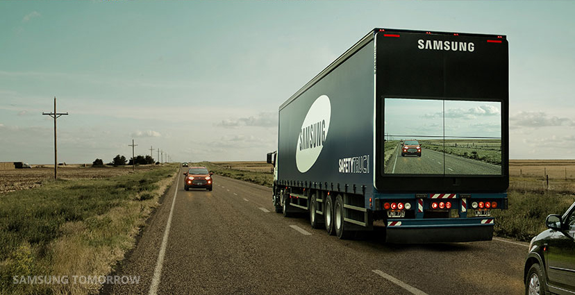 Samsung Semi-Trailer Truck Program Aims to Save Lives